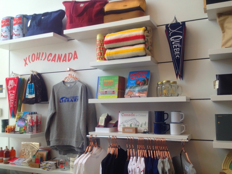 Local flavour celebrated, including a Toronto Public Library sweatshirt.