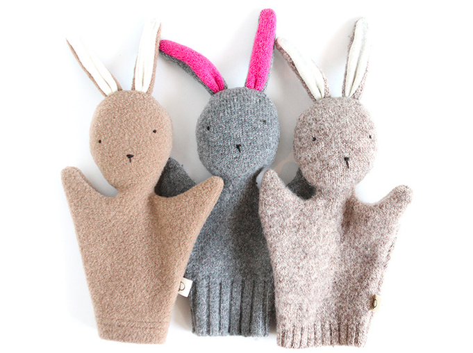 Lapin hand puppets