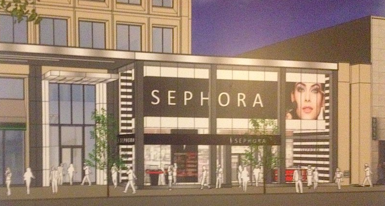 Rendering of Sephora's new 77 Bloor Street West flagship.