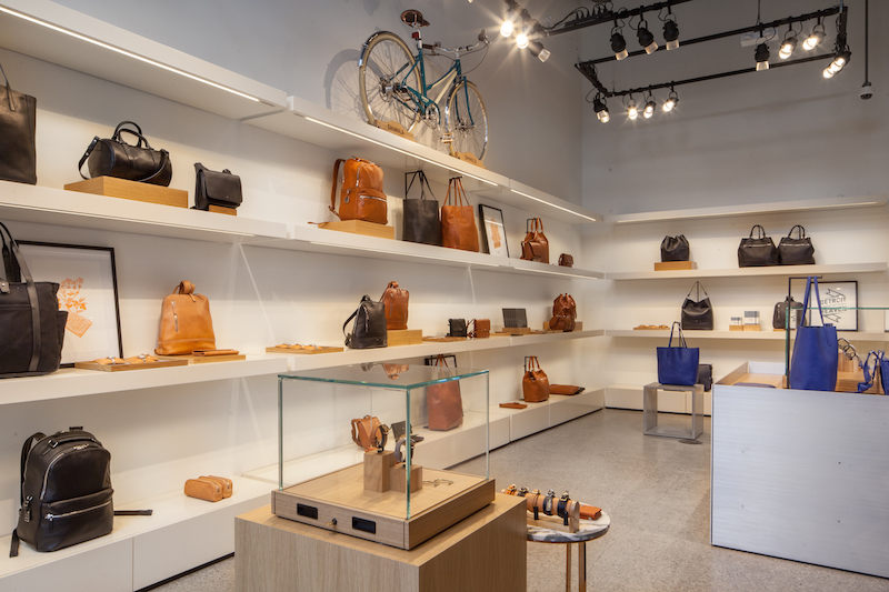 The women's section at the back of the Toronto store is the largest of all 16 Shinola locations.