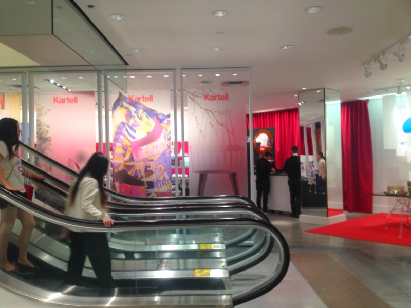 Kartell's temporary space at Holt Renfrew in downtown Toronto.