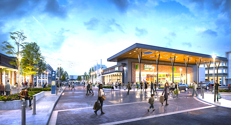 CF Shops at Don Mills. Rendering, Cadillac Fairview