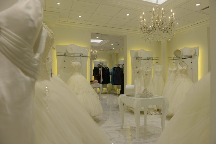 Second floor bridal salon. Photo: Tom Sandler