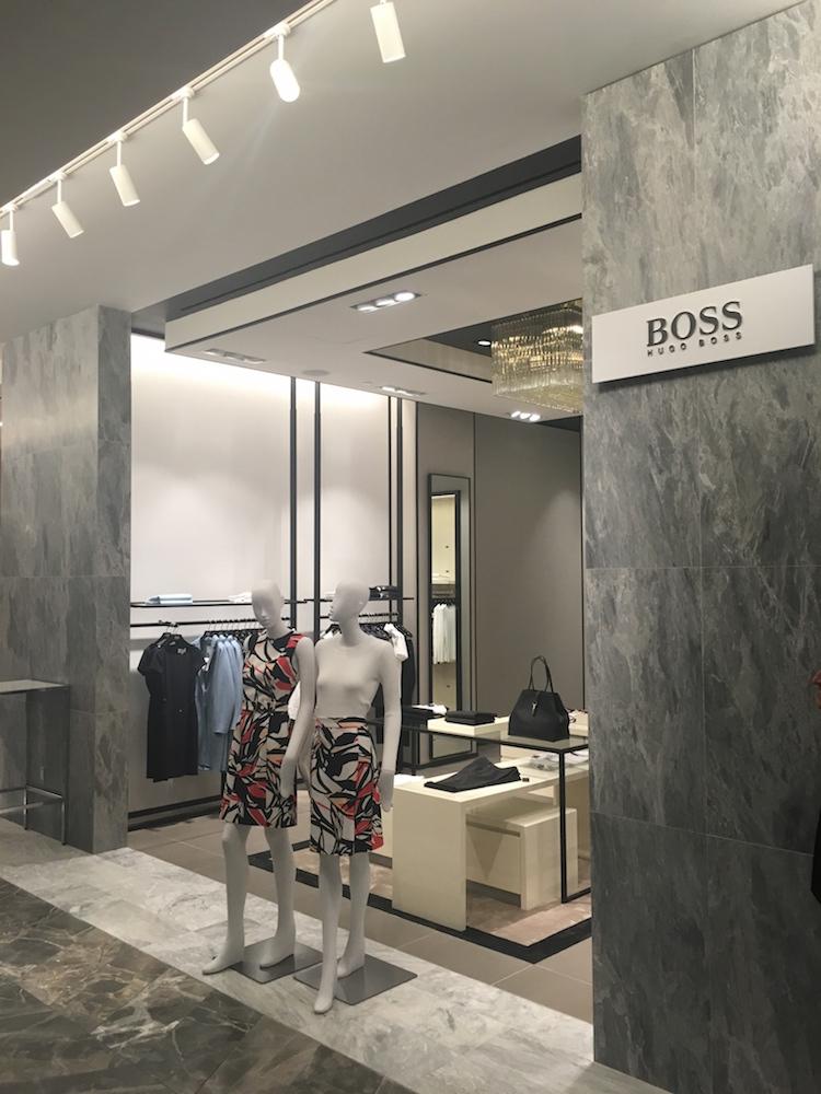 Hugo Boss women's boutique.Photo:Chantal Mizerski, Retail Council of Canada.