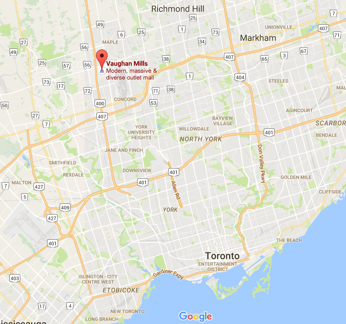Click above for interactive GTA Google Map