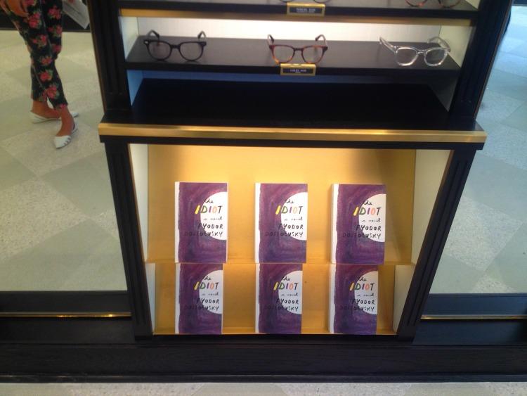 Books below eyewear in the new Toronto store. Photo: Retail Insider