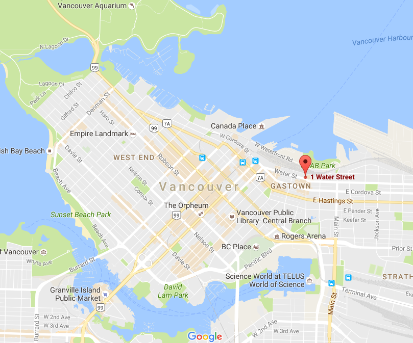 Click above for interactive Google Map of Vancouver