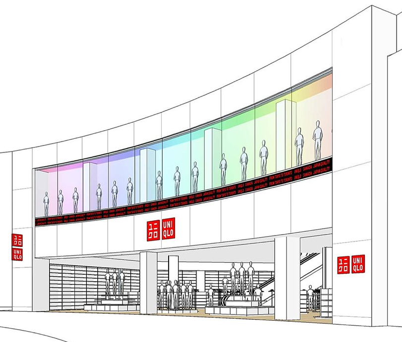 Uniqlo Yorkdale Shopping Centre, opening October 20. Rendering: Uniqlo   (click image for article)