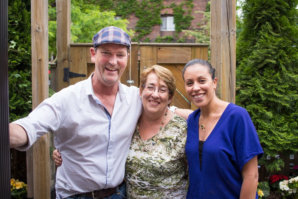 Chef Anthony Walsh alongside his mother-in-law, Elena and Chef Julie Marteleira. Photo by Cindy La