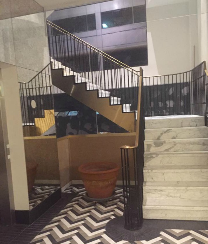 Marble stairway leading to the 2nd floor private dining. Photo: Chef Julie Marteleira
