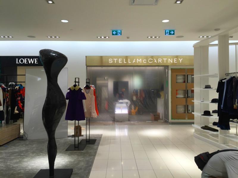 Under construction: Stella McCarney boutique.Photo: Devon Johnson