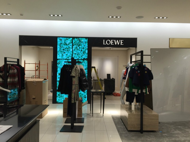 Under construction: Loewe women's ready-to-wear boutique. Photo: Devon Johnson