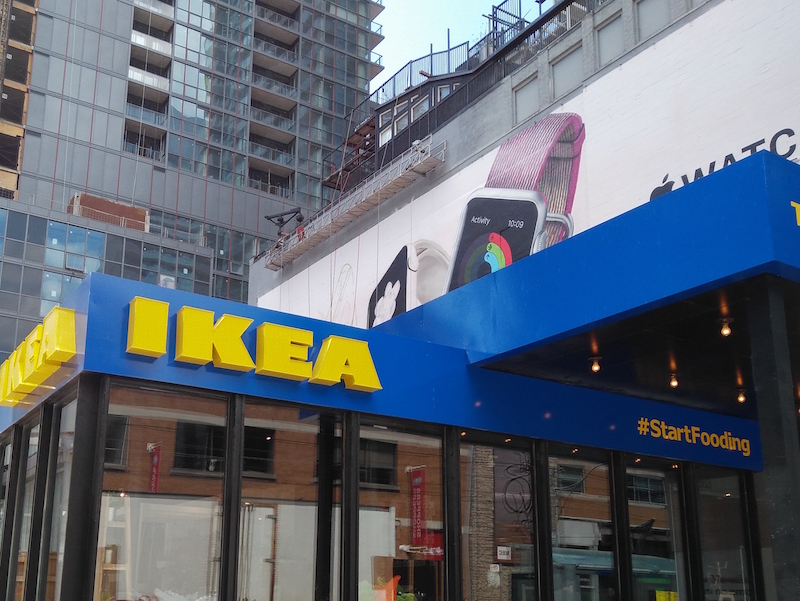 Ikea pop-up in downtown Toronto. Photo: blog.hubba.com