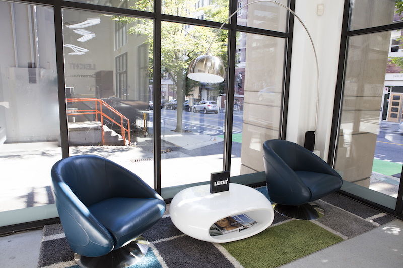 Seating area in the new Beaty Street store.