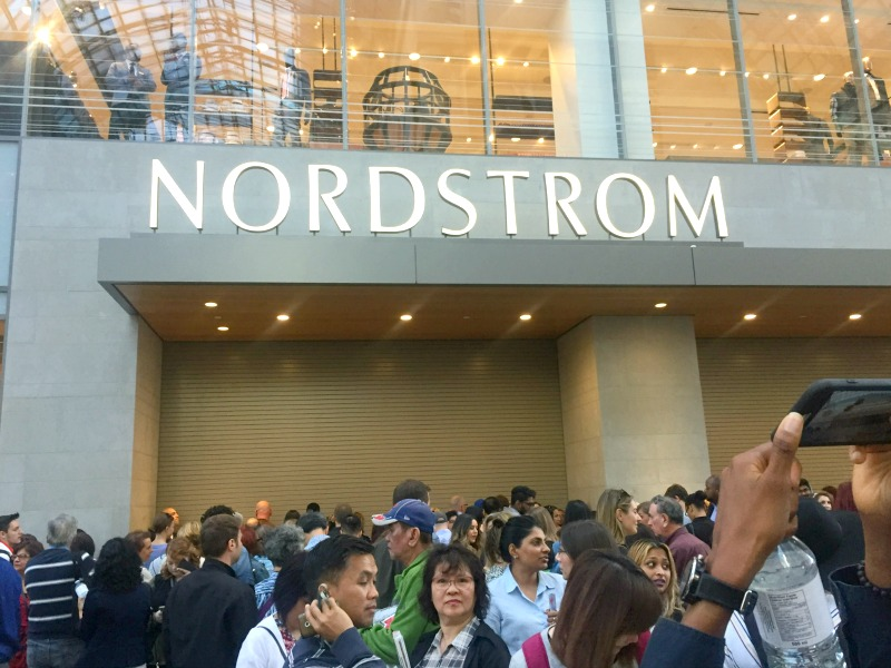 Crowds line up for the opening of the CF Toronto Eaton Centre Nordstrom store on Friday, September 16, 2016. Photo: Devon Johnson.