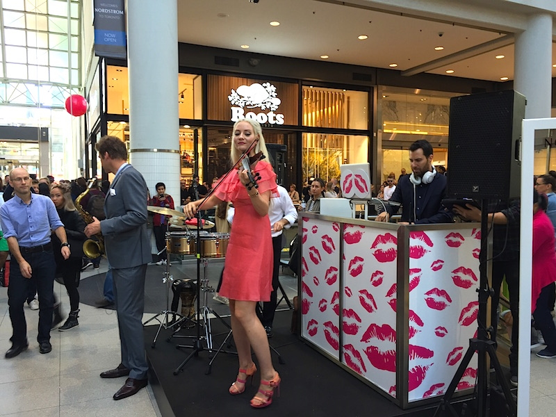 Musical performance at the opening of Nordstrom at CF Toronto Eaton Centre.   Photo: Devon Johnson