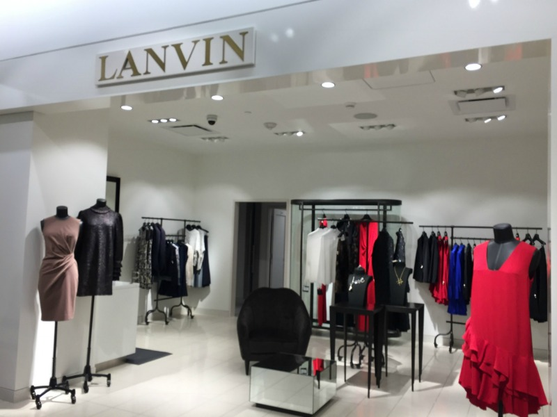 Lanvin women's boutique on the store's third floor.   Photo: Devon Johnson