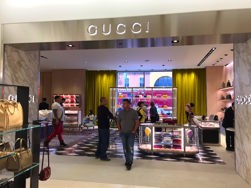 The store's beautiful new Gucci boutique is a leased concession.   Photo: Devon Johnson