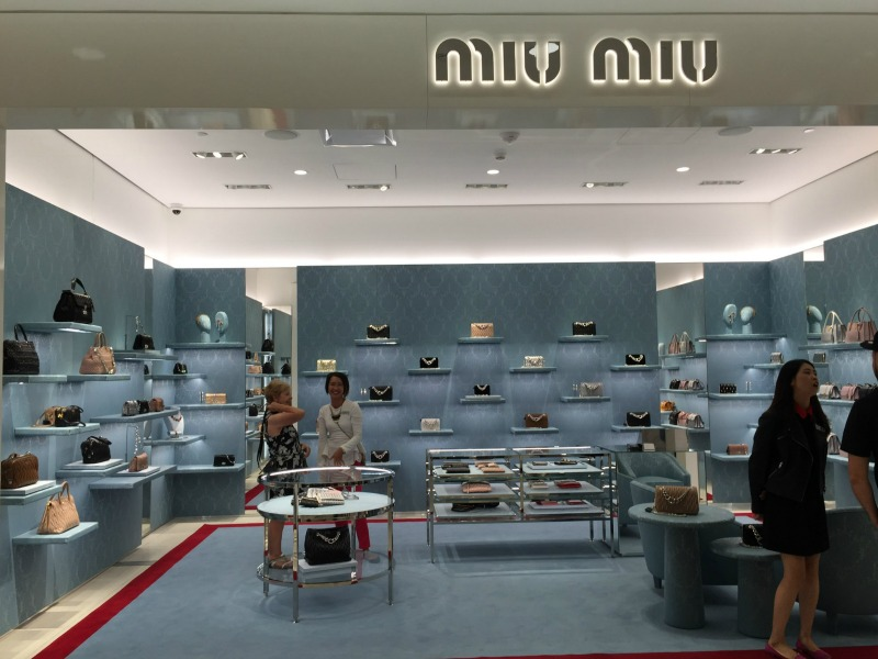 Miu Miu accessories boutique on the ground floor.   Photo: Devon Johnson