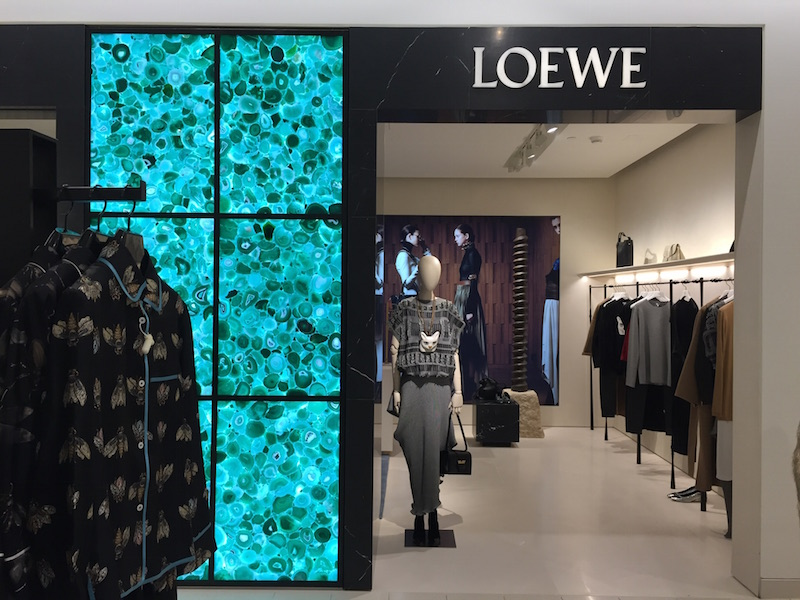 Nordstrom's Loewe women's ready-to-wear boutique is a first for the company. Loewe is a Spanish luxury brand operating under the LVMH corporate umbrella. Photo: Devon Johnson