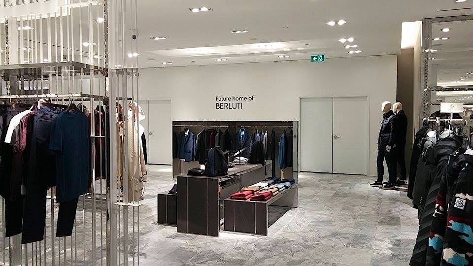 A Berluti boutique will open in the men's store -- a first in Canada. Photo: Ritchie Po