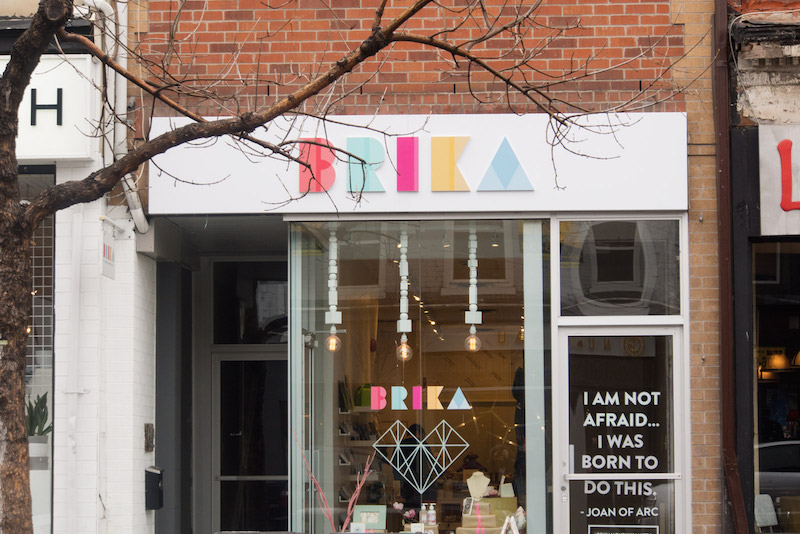 BRIKA store on Queen St. West in Toronto.