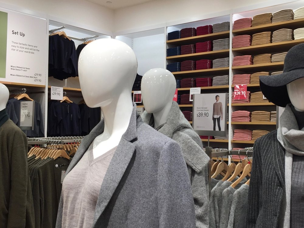 Women's clothing on mannequins on the first floor. Photo: Devon Johnson