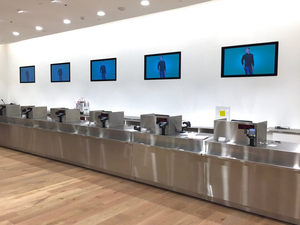Cash registers are located on both the first and second floor. Photo: Devon Johnson
