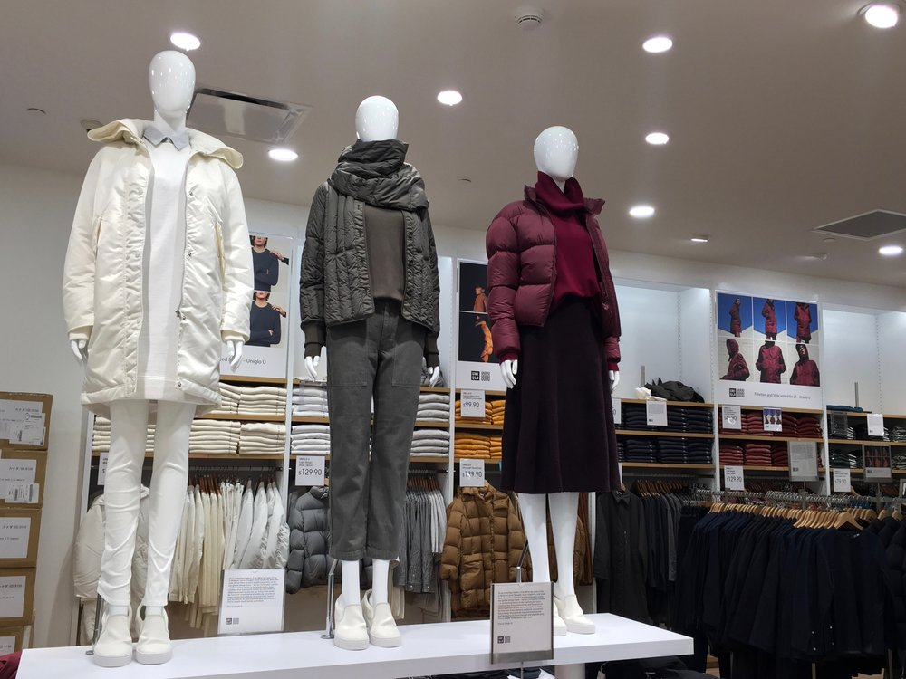 'Uniqlo U' is found on the second floor. Photo: Devon Johnson