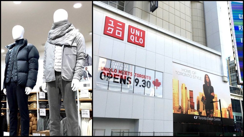 Inside Uniqlo S 1st Canadian Store At Cf Toronto Eaton Centre