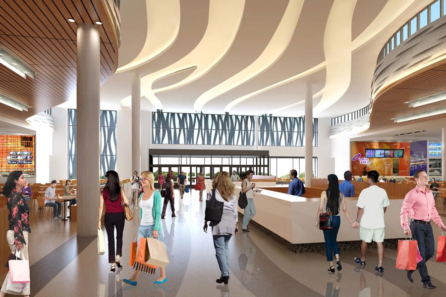 Food court rendering: Ivanhoé Cambridge