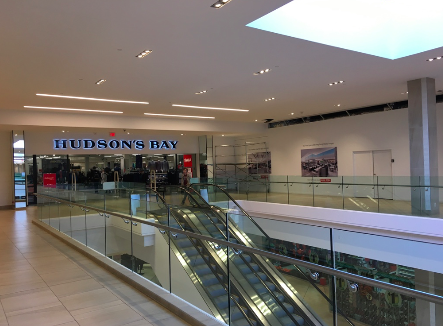 New signage for Hudson's Bay department store. Photo: Christa Patterson