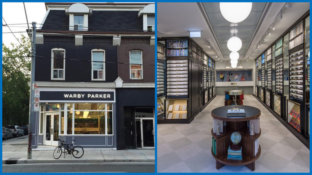 (Toronto Queen Street W. store, photos by Warby Parker)