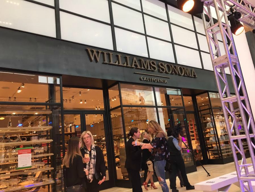 Williams Sonoma has relocated into an impressive two-level space.
