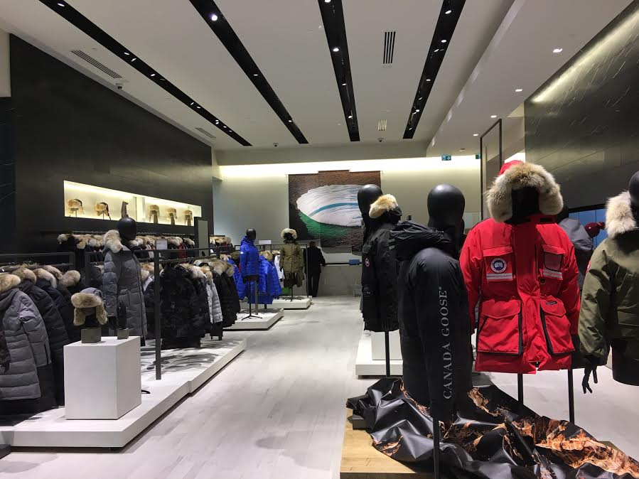 Inside Canada Goose (above and below)