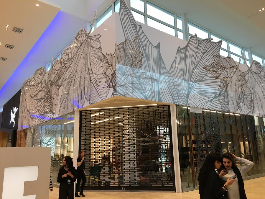 Lululemon's impressive new space is almost finished. Interestingly, the store's facade features some recycled elements from the previous location.