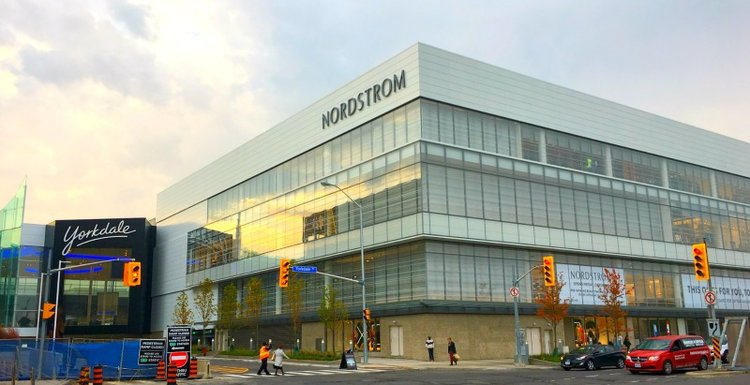 Inside nordstrom at yorkdale and list of brandsboutiques photos nordstroms new three level 199000 square foot yorkdale shopping centre location in toronto opens to the public on friday october 21 ccuart Images