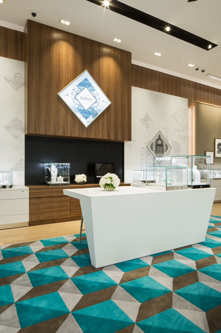 (A counter where shoppers may sit and view Birks' latest designs. photo: Ben Rahn/A-Frame)