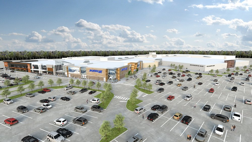 (A rendering of Hillcrest Mall's new south wing expansion)