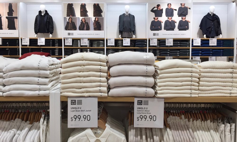 Uniqlo U offers cashmere blend sweaters without the sticker shock from nearby retailers
