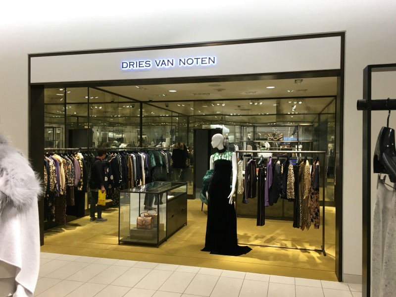 (Beautiful new Dries Van Noten boutique -- a first for Nordstrom)