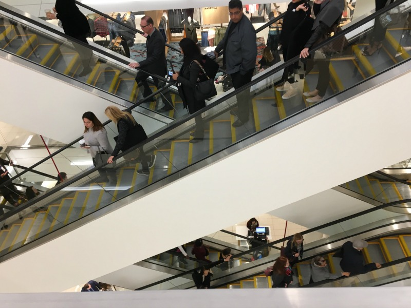 (Escalators during the grand opening)