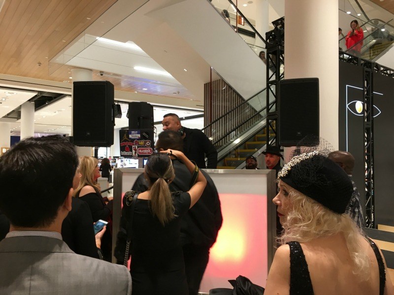 (Russell Peters DJ'ing during the October 19 store opening charity gala)