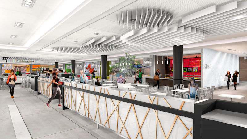 (Renderings above and below are of the new Edmonton City Centre 'Elevate Food Fare')