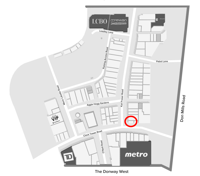 (Click above for interactive CF Shops at Don Mills mall map)