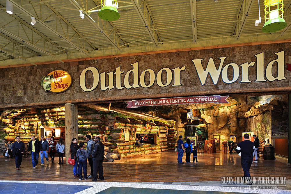 (Photos below are of the impressive Bass Pro Shops store)