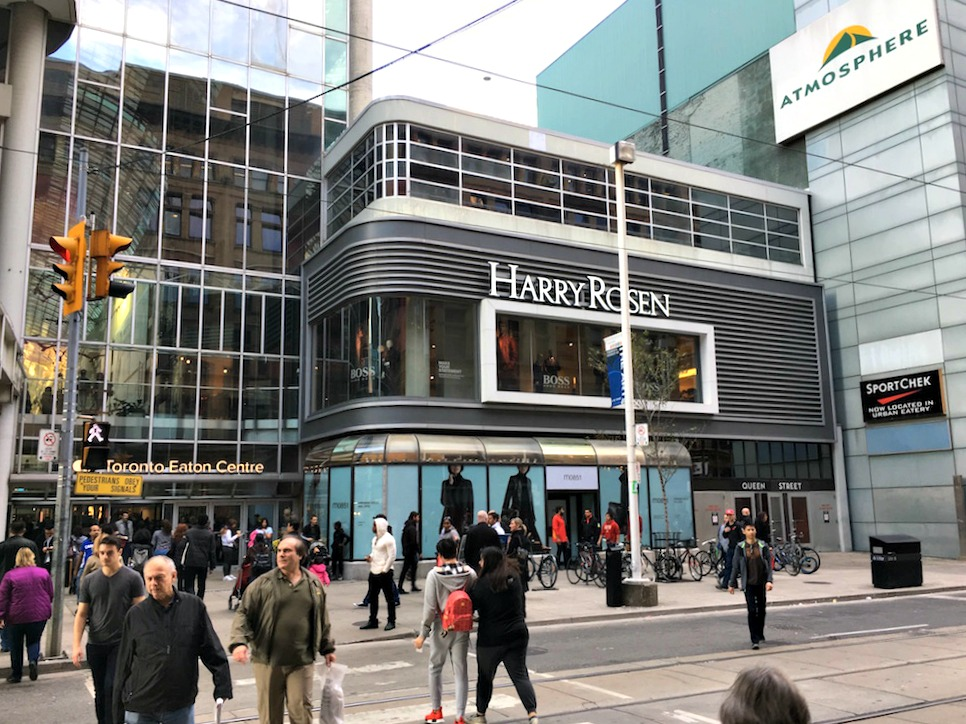(View from the Queen Street West entrance to Saks Fifth Avenue/Hudson's Bay)