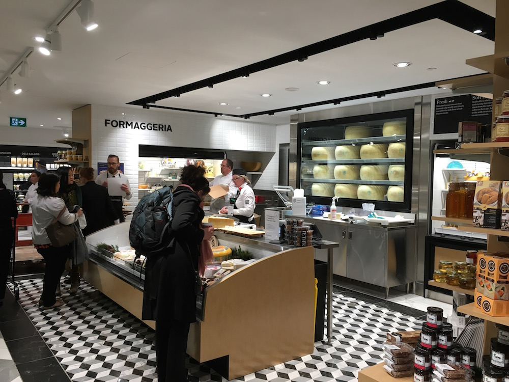 (Cheese boutique, featuring several award-winning varieties)