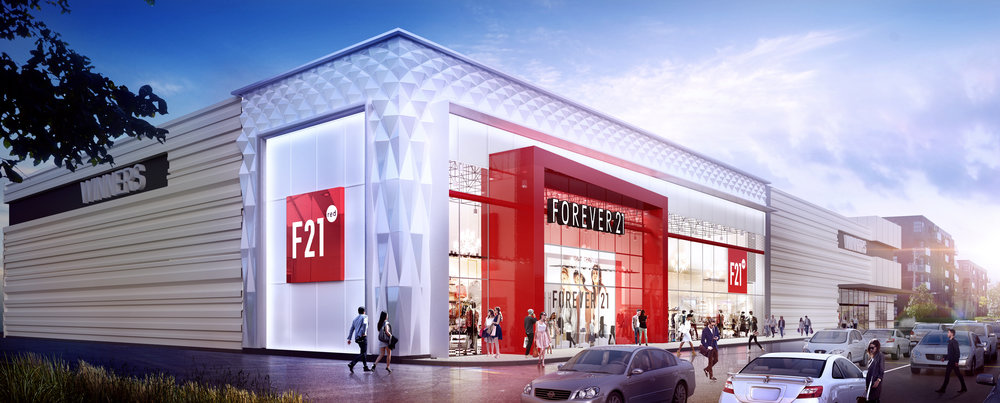 Les Avenues Vaudreuil Mode will contain Quebec's first Forever 21 RED store. (Rendering: GH+A Design)