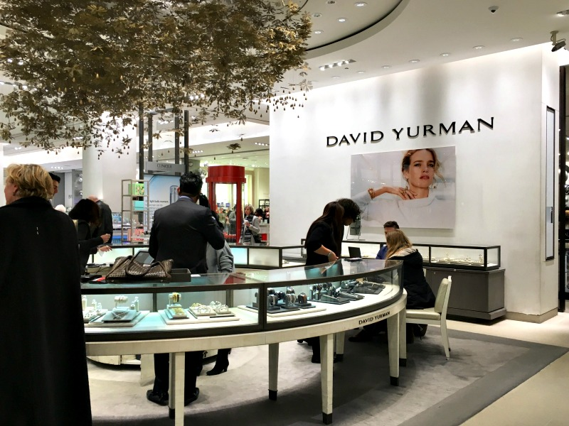 (Yurman's concession at Holt Renfrew, 50 Bloor St. W. in Toronto, relocated within the store last week. Photo: Craig Patterson)